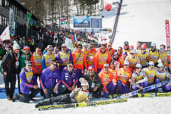 Team Norway, Overall winning team in Nations Cup celebrate during flower ceremony after the Ski Flying Hill Team Competition at Day 4 of FIS Ski Jumping World Cup Final 2016, on March 20, 2016 in Planica, Slovenia. Photo by Ziga Zupan / Sportida