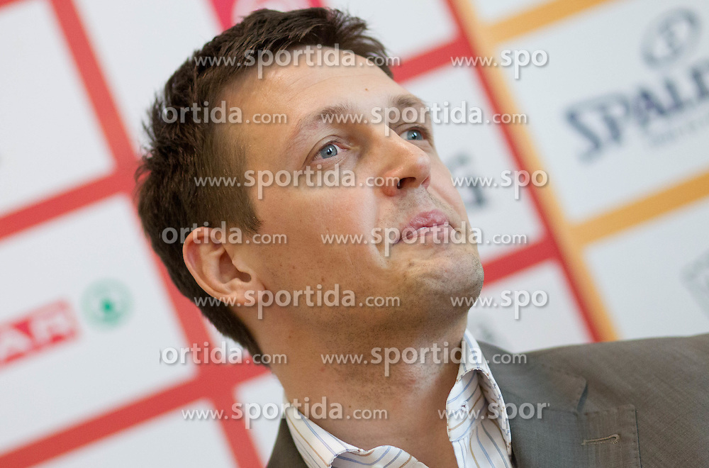Aleksander Sekulic, head coach of KK Krka during press conference of Slovenian basketball Champions League 2011/12 before Semifinal and Final games, on May 4, 2012 in Hotel City, Ljubljana, Slovenia.  (Photo by Vid Ponikvar / Sportida.com)