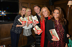 Left to right, ?, Denise Van Outen, Dean Piper, Sarah-Jane Mee and KATY WICKREMESINGHE at a party to celebrate the publication of The Stylist by Rosie Nixon held at Soho House, London on 10th February 2016.