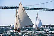 Tilly XV sailing in the Newport Classic Yacht Regatta.
