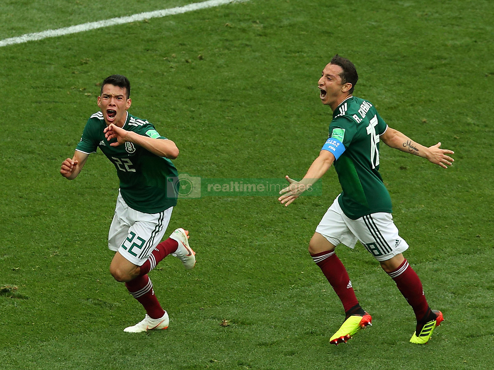 June 17, 2018 - Moscow, Russia - June 17, 2018, Russia, Moscow, FIFA World Cup, First round, Group F, Germany vs Mexico at the Luzhniki stadium. Player of the national team Irwin Rodrigo Lozano Baena (Credit Image: © Russian Look via ZUMA Wire)
