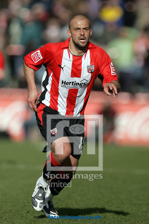 London - Saturday, March 28th, 2009: Brentford goalscorer David Hunt during the Coca Cola League Two match at Griffin Park, London. (Pic by Mark Chapman/Focus Images)