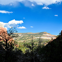 Looking out from Echo Amphitheater, near Abiquiu, NM