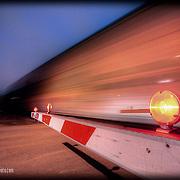 The scene of a train crossing