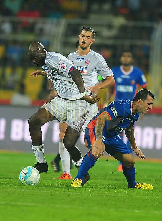 Mohd Sissoko of FC Pune City during match 8 of the Indian Super League (ISL) season 3 between FC Goa and FC Pune City held at the Fatorda Stadium in Goa, India on the 8th October 2016.<br />