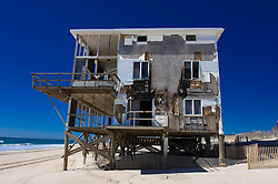 Remains of a beach home in Westhampton,NY