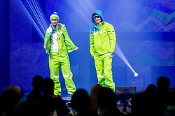 Katja Pozun and Rok Marguc during presentation of Team Slovenia for Sochi 2014 Winter Olympic Games on January 22, 2014 in Grand Hotel Union, Ljubljana, Slovenia. Photo by Vid Ponikvar / Sportida