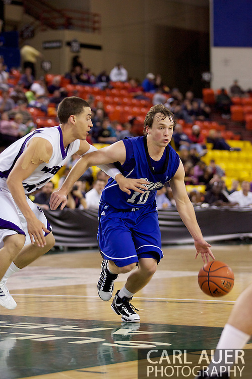 November 27th, 2010:  Anchorage, Alaska - Drake Bulldog Ryan Wedel (10) drives the in the 81-82 Drake loss to Weber State in the third place game at the Great Alaska Shootout.