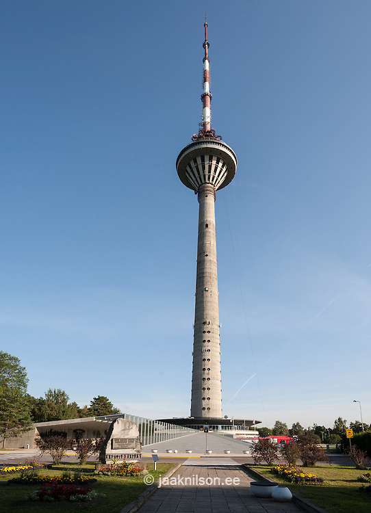 Tv tower in Tallinn, Estonia. Tall building.