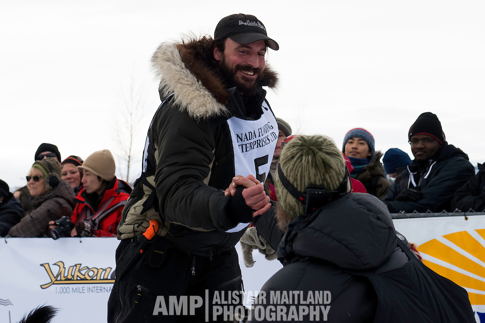 Cody Strathe at the Start Line.