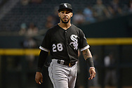 PHOENIX, AZ - MAY 24:  Leury Garcia #28 of the Chicago White Sox looks on prior to the MLB game against the Arizona Diamondbacks at Chase Field on May 24, 2017 in Phoenix, Arizona. The Arizona Diamondbacks won 8-6.  (Photo by Jennifer Stewart/Getty Images)