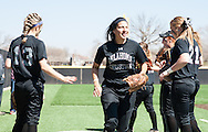 March 29, 2014: The Oklahoma Christian University Lady Eagles softball team holds the grand opening of their new stadium on the campus of Oklahoma Christian University