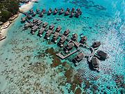 Aerial photograph of the Sofitel Ia Ora Beach Resort & lagoon, Temae, Moorea, French Polynesia