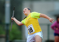 21 Aug 2016: Aoife Giles, from Donegal, during the Girls U14 Javelin.  2016 Community Games National Festival 2016.  Athlone Institute of Technology, Athlone, Co. Westmeath. Picture: Caroline Quinn