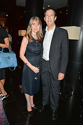 SARAH MILLER and JULIAN TREGER at a dinner at The Bulgari Hotel, 171 Knightsbridge to celebrate The London Design Festival on 13th September 2016.