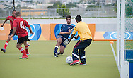 Male's football match 5-a-side between SO Albania and SO Cyprus during 2011 Special Olympics World Summer Games Athens on June 26, 2011..The idea of Special Olympics is that, with appropriate motivation and guidance, each person with intellectual disabilities can train, enjoy and benefit from participation in individual and team competitions...Greece, Athens, June 26, 2011...Picture also available in RAW (NEF) or TIFF format on special request...For editorial use only. Any commercial or promotional use requires permission...Mandatory credit: Photo by © Adam Nurkiewicz / Mediasport