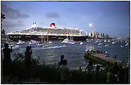 Copyright JIm Rice © 2013.Maiden world voyage  Queen Mary 2.<br />