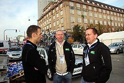 Lukan Zele, Tomaz Poljanec and Martin Hvastija (Slovenia) during the Men's Elite Road Race at the UCI Road World Championships on September 25, 2011 in Copenhagen, Denmark. (Photo by Marjan Kelner / Sportida Photo Agency)