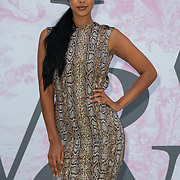 Maya Jama arrives at V&A - summer party, on 19 June 2019, London, UK