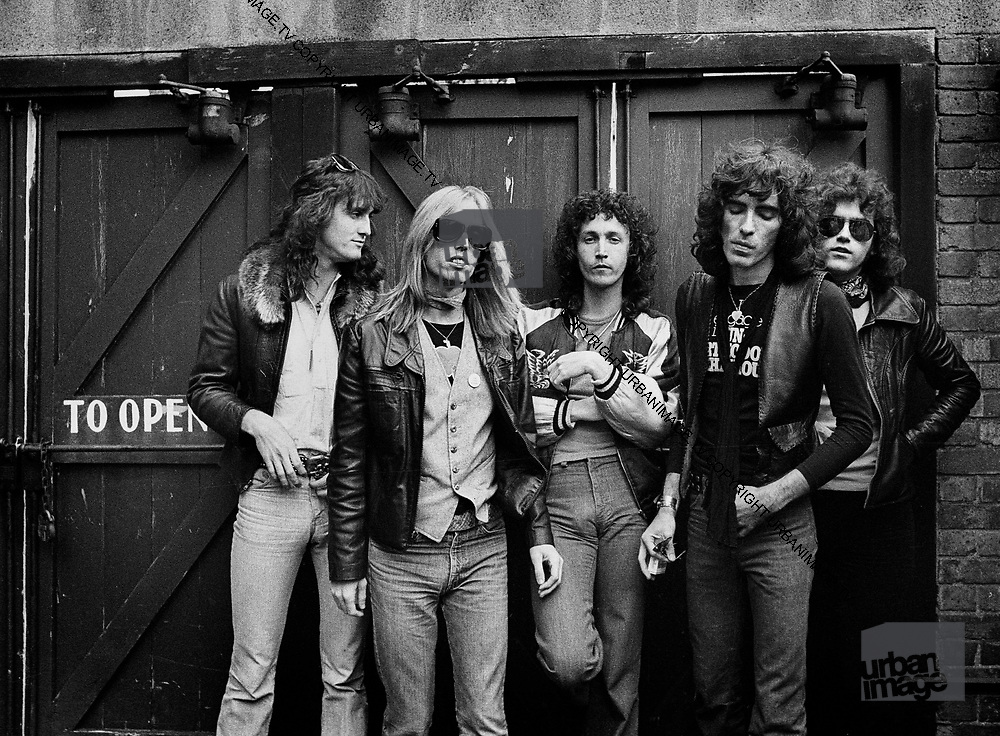 Tom Petty and the Heartbreakers<br /> Left to Right: Ron Blair, Mike Campbell, Beamont Tench, Stan Lynch, Tom Petty<br /> It was taken behind the studio that they were using in San Francisco in <br /> 1979