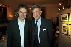 Left to right, IVOR BRAKA and SIR TOBIAS CLARKE at an exhibition of photographs by Edgar Astaire held at The Royal Hospital Chelsea, London on 24th April 2009.