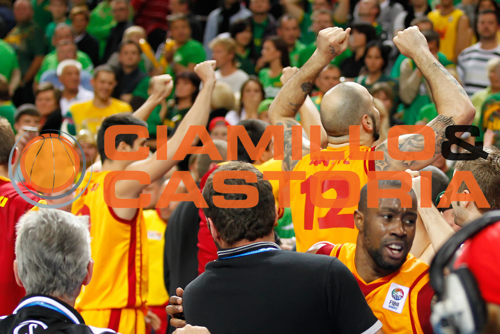 DESCRIZIONE : Vilnius Lithuania Lituania Eurobasket Men 2011 Quarter Final Round Macedonia Lituania F.Y.R. of Macedonia Lithuania<br /> GIOCATORE : Pero Antic Team Macedonia F.Y.R. of Macedonia<br /> SQUADRA : Macedonia F.Y.R. of Macedonia<br /> EVENTO : Eurobasket Men 2011<br /> GARA : Macedonia Lituania F.Y.R. of Macedonia Lithuania<br /> DATA : 14/09/2011 <br /> CATEGORIA : esultanza jubilation<br /> SPORT : Pallacanestro <br /> AUTORE : Agenzia Ciamillo-Castoria/ElioCastoria<br /> Galleria : Eurobasket Men 2011 <br /> Fotonotizia : Vilnius Lithuania Lituania Eurobasket Men 2011 Quarter Final Round Macedonia Lituania F.Y.R. of Macedonia Lithuania<br /> Predefinita :