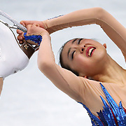 Mao Asada of Japan performs in the ladies' figure skating free skate at the Iceberg Skating Palace during the Winter Olympics in Sochi, Russia, Thursday, Feb. 20, 2014. (Brian Cassella/Chicago Tribune/MCT) ORG XMIT: 1149421