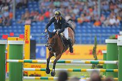 Tebbel, Rene (UKR), Cooper<br /> Aachen - Europameisterschaften 2015<br /> Springen 1. Qualifikation Teamwertung<br /> © www.sportfotos-lafrentz.de/Stefan Lafrentz