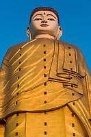 The Laykyun Sekkya Buddha giant statue standing near Monywa Myanmar (Burma)