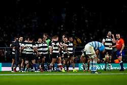 Barbarians celebrate victory over Argentina - Mandatory by-line: Robbie Stephenson/JMP - 01/12/2018 - RUGBY - Twickenham Stadium - London, England - Barbarians v Argentina - Killick Cup