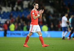 Gareth Bale of Wales claps the home fans at full time. - Mandatory by-line: Alex James/JMP - 12/11/2016 - FOOTBALL - Cardiff City Stadium - Cardiff, United Kingdom - Wales v Serbia - FIFA European World Cup Qualifiers