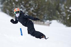 VOS Chris, banked slalom training, 2015 IPC Snowboarding World Championships, La Molina, Spain