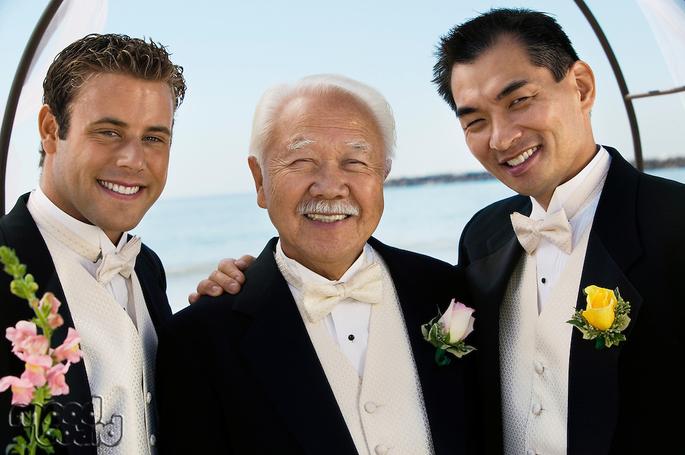 Groom With Father and Best Man