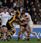 Wycombe, Great Britain. Wasps Tom VOYCE, during the Guinness Premiership Game London Wasps vs Newcastle Falcon at Adams Park, England, on Sunday 25/11/2007   [Mandatory Credit. Peter Spurrier/Intersport Images]