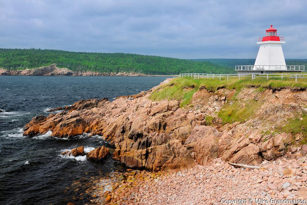 Lighthouse on Cape Breton<br /> Neil's Harbour<br /> Nova Scotia<br /> Canada