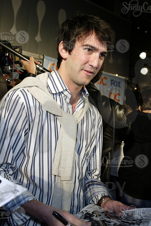 Oct 28, 2004; Newport Beach, CA, USA; Creator JOSH SCHWARTZ signs autographs for fans on the FOX hit TV show 'The OC' visited the Balboa Penninsula in Newport Beach to get a Key to the City and be immortalized in cement with thier hand prints to be placed at the enterance to the Historic Balboa Pavillion.  Mandatory Credit: Photo by Shelly Castellano/ZUMA Press.