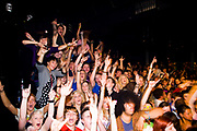 Gig crowd at the Old Fire Station venue, Bournemouth, October 2009.
