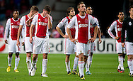 Ajax Amsterdam playess after the lost the he match  during the UEFA Champions League Group D football match Ajax Amsterdam vs Real Madrid on October 3, 2012 AFP PHOTO/ ROBIN UTRECHT.