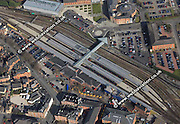 aerial photograph of Derby Midland Station Derby  Derbyshire  England UK