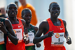 07-04-2019 NED: 39e NN Rotterdam Marathon, Rotterdam<br /> The winner kenyan Marius Kipserem during the NN marathon of Rotterdam.