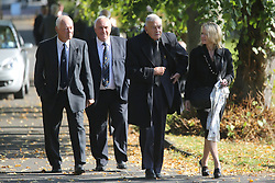 © Licensed to London News Pictures. 30/09/2015. Leeds, UK. Picture shows Dickie Bird. A Remembrance service has taken place for former Yorkshire & England cricket captain Brian Close. Mr Close died at his home in Baildon aged 84 after a long battle with cancer. Photo credit: Andrew McCaren/LNP