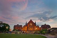 Music Hall at sunset by Washington Park