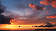 Incredible sunset and dramatic clouds over the Irish Sea from Porth Nobla, near Rhosneigr, West Anglesey<br /> <br /> © Glyn Davies - All rights reserved.