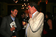 Ben Goldsmith and Jeremy Clarkson, A A Gill party to celebrate the  publication of Table Talk, a collection of his reviews. Hosted by Marco Pierre White at <br />