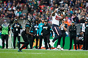 Houston Texans Tight End Jordan Akins (88) catches a pass during the International Series match between Jacksonville Jaguars and Houston Texans at Wembley Stadium, London, England on 3 November 2019.