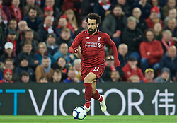 LIVERPOOL, ENGLAND - Friday, April 26, 2019: Liverpool's Mohamed Salah during the FA Premier League match between Liverpool FC and Huddersfield Town AFC at Anfield. (Pic by David Rawcliffe/Propaganda)