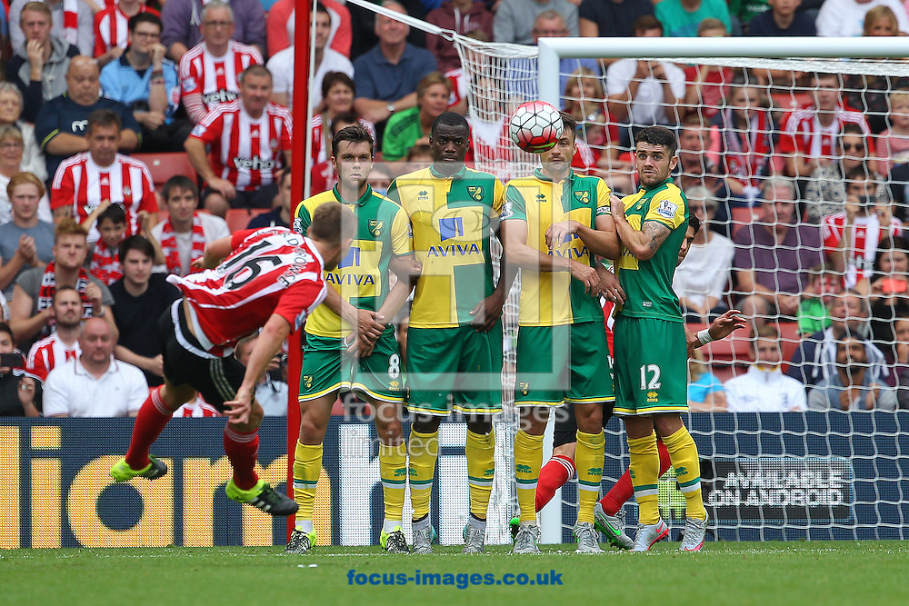 James Ward-Prowse of Southampton has a shot on goal from a free kick during the Barclays Premier League match at the St Mary's Stadium, Southampton<br /> Picture by Paul Chesterton/Focus Images Ltd +44 7904 640267<br /> 30/08/2015