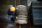 Yamazaki, November 22 2011 - Suntory whisky distillery in Yamazaki, Japan. Casks made of oaks are filled in.