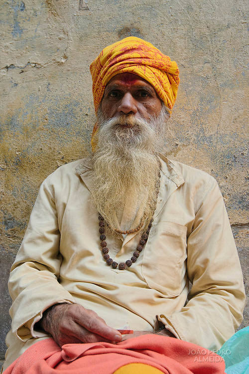 Holy man lingering the ghats of Varanasi
