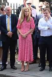 © Licensed to London News Pictures. 24/07/2019. London, UK. Carrie Symonds on Downing Street. Boris Johnson will enter 10 Downing Street today. Photo credit: Rob Pinney/LNP